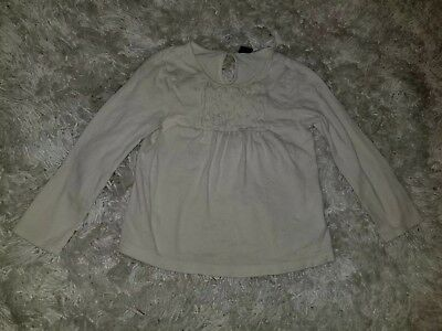 Baby GAP GIRLS Long Sleeves Shirt  Size  3 T off White