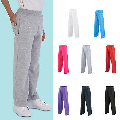 AWDis Kids Sweatpants - Boys girls sports/PE/Casual jogging bottom |Ages 5-13