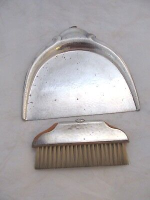 Antique art nouveau silver plate WMF table shovel with broom. Germany