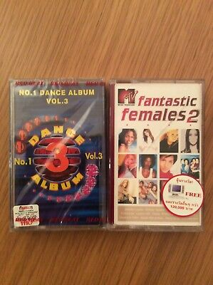 No.1 Dance Album Vol.3/MTV Fantastic Females 2 (New/Sealed 2 x Cassette Tapes)