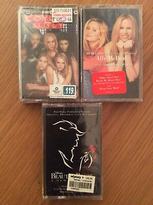 Coyote Ugly/Ally McBeal/Beauty & The Beast (New/Sealed 3 x Cassette Tapes)