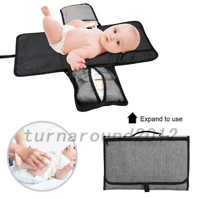 Baby Portable Folding Diaper Travel Changing Pad Waterproof Mat Bag Storage Hot