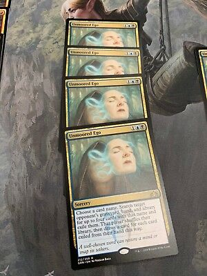 4X Unmoored Ego  GRN Guilds of Ravnica PACK FRESH