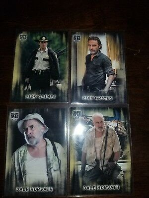 Topps Walking Dead Hunters and the Hunted RICK&DALE Base Short Print VARIATIONS