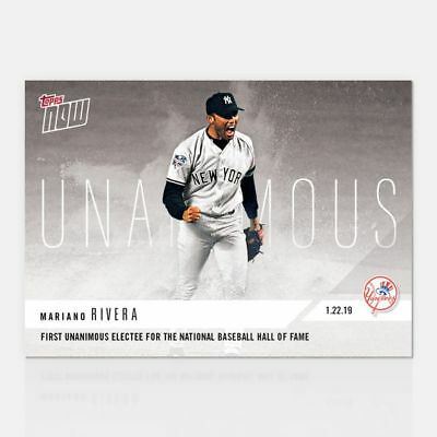 2018 Topps NOW OS64 Mariano Rivera New York Yankees [1.22.19]