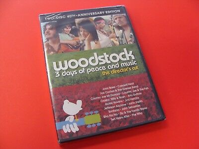 Woodstock Three Days of Peace and Music DVD New Factory Sealed Out Of Print