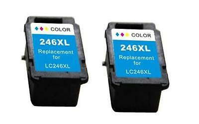 2 Pk Non-Oem Ink For Canon Cl-246Xl Colour Pixma Mg2900 Mg2920 Mg2922 Mg2924