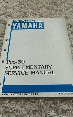 Yamaha Pro-50 Outboard Motor Service Repair Manual Supplement