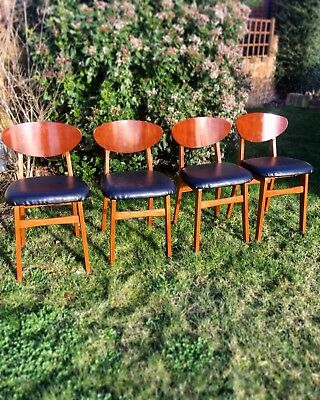 Remploy Vintage Retro Mid Century Dining Chairs Set Of 4