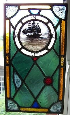 Nautical/Pirate stained glass panel