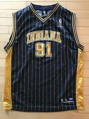 720f1cd05 Ron Artest  91 Indiana Pacers NBA Jersey Reebok Metta World Peace Youth XL  Boys