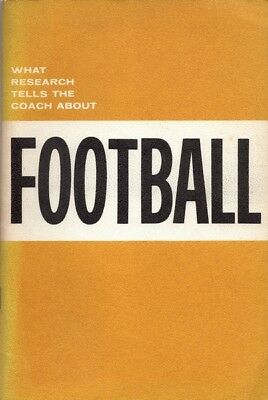 Roderick R. Paige ~ What research tells the coach about football