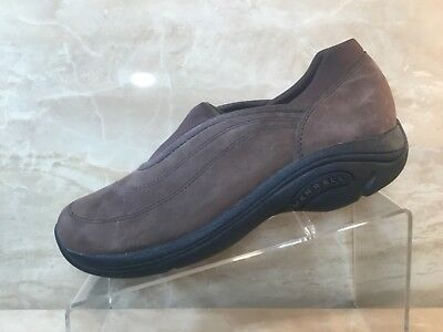 Merrell Brown Suede Leather SlipOns Loafers Casual Shoes Womens Ladies Size 9
