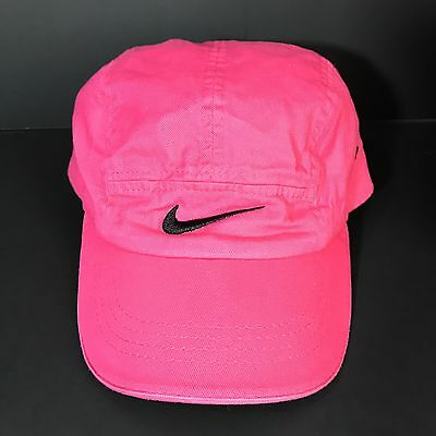 340e343b8b8bd Nike Hat Girls Cap Pink Adjustable Strap Black Swoosh Just Do it Size 4-6x