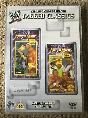 WWE Tagged Classics- Wrestlemania 7 & 8 DVD (2 Disc Set) WWF Rare