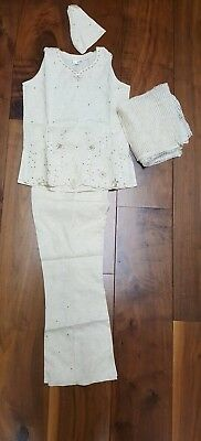 Girls Trouser Suit Indian linen size 30