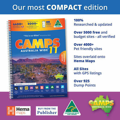 NEW 2019 Camps 10 Free Camping Guide A4 Spiral Bound Book New - NEW CAMPS 10