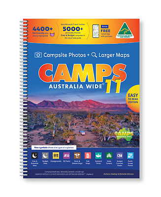 2019 Camps Australia Wide10 B4 with Snaps Spiral Bound Book... New camps 10