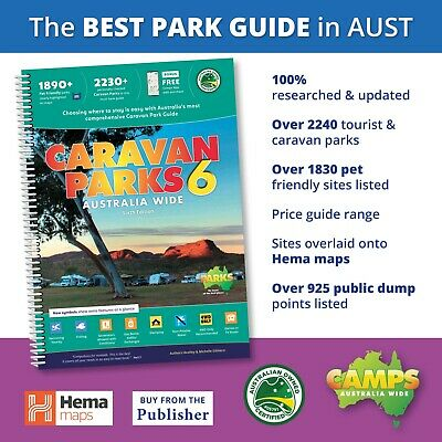 Caravan Parks Australia Wide 5th ed Book New 2019 incl Hema Road Maps