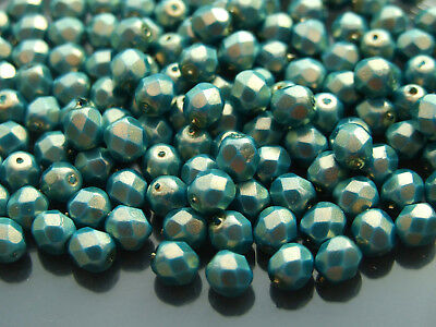 50x Czech Glass 6mm Fire Polished Facelet Beads Jewelry Making 37 Colors