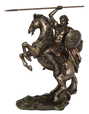 Alexander the Great Statue Macedonia King Of Vergina - Cold Cast Bronze Resin