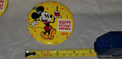 NEW Disneyland Mickey Mouse 90th Birthday Exclusive Button Pin! Happy Birthday!