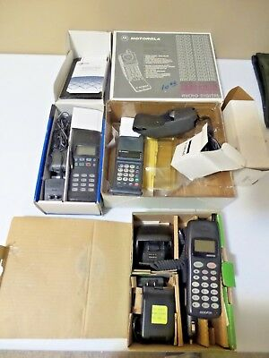 Lot of (3)  Vintage Cell Phones, untested, Micro Tac, 3810, Audiovox, in boxes