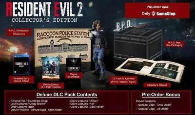 Resident Evil 2 Collector's Edition Gamestop Exclusive (Preorder) PS4  Rare New