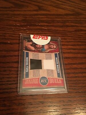 2015 Topps UFC Knockout Dynamic Duals Tate Vs Rousey Redemption Only Card!