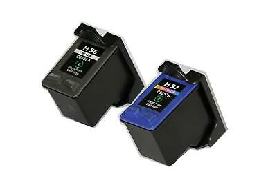 2PK NON-OEM INK FOR HP 56 & 57 C6656AN C6657AN OfficeJet 2110 4110 4215 4255