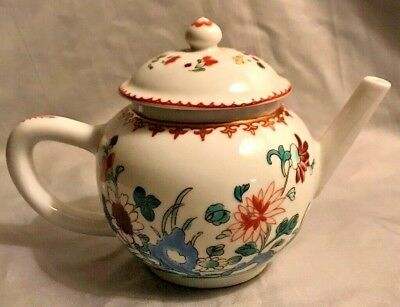 Victoria And Albert Museum Chinese Teapot Fine Porcelain 1985 Franklin Mint