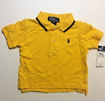 New with Tag Polo Ralph Lauren Boys SS Yellow Polo Shirts - Size 9 Months