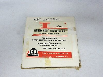 Thomas & Betts GS1250 Connector Die Color Code Pink for Hydraulic Crimp Head