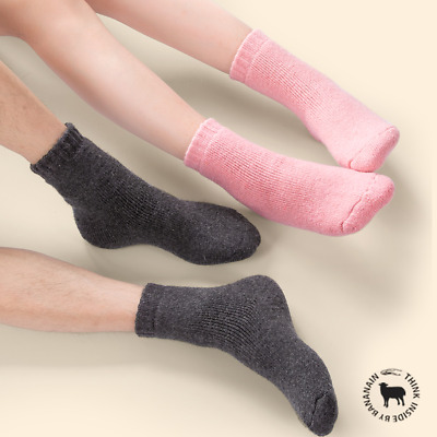 5 Pairs Mens / Womens Wool Cotton Casual Solid Thermal Thicken Winter Snow Socks