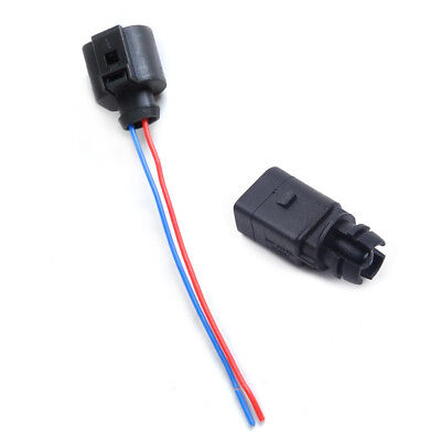 Outer Air Temperature Sensor+2-Pin Connector Plug for Audi Volkswagen 6RD820535