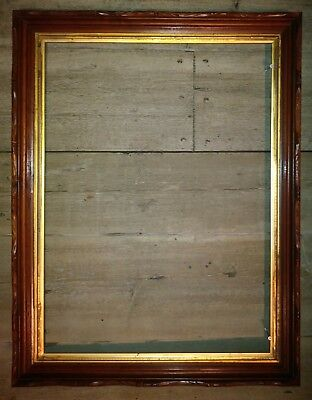 Antique X-LARGE BLACK WALNUT HAND CARVED PICTURE FRAME-BEAUTIFUL Workmanship
