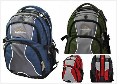 New Laptop Travel Outdoor Backpack School Bag Daypack - Blue / Green / Red