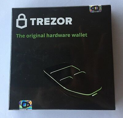 TREZOR Hardware Wallet *security sealed* NEW- Bitcoin Etc