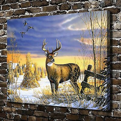 Deer Country Afternoon Paintings HD Print on Canvas Home Decor Wall Art Pictures