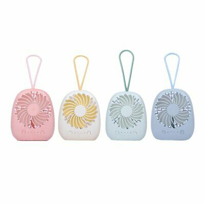 With Lanyard Design USB Hand-held Desk Fan Cooler Handheld Air Conditioner E5❄