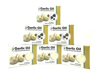Garlic Oil High Concentrate Extract Soft Gel 50 ct. MADE IN USA