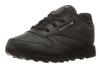 a37fdd2dade8 Reebok Classic Leather Black Toddler Kids Sneakers Tennis Shoes Item 92757