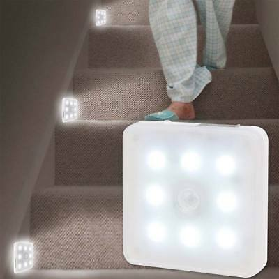 Super bright Wireless PIR Motion Sensor 8LED Rechargeable Night Light Home
