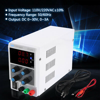 SKYTOPPOWER 30V 3A Regulated DC Power Supply 3-digit Display Input 110/220V ls
