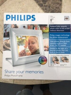 """Philips Photo Frame 8"""" LCD White 8FF3FPW"""