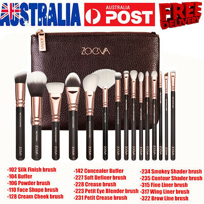 Soft 15 Pro Face Powder Makeup Brushes Set Eyeshader Blending Highlight Tool SET