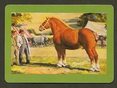 Single Swap Playing Card Suffolk Punch Heavy Horse At Show Horses Art