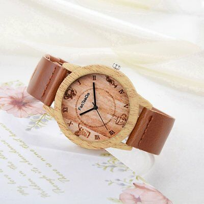Vintage Women Wooden Watch Luxury Brand Casual Simple Quartz Wristwatches W0