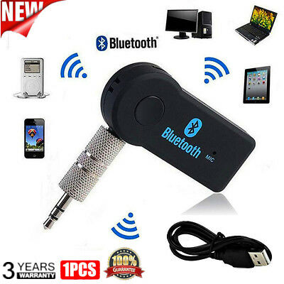 Wireless Bluetooth 3.5mm AUX Audio Stereo Music Car Receiver Adapter with Mic UK