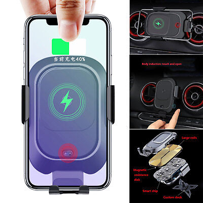 Car Air Vent Mount Phone Holder Wireless Charging Receiver for Audi A3 S3 14-19